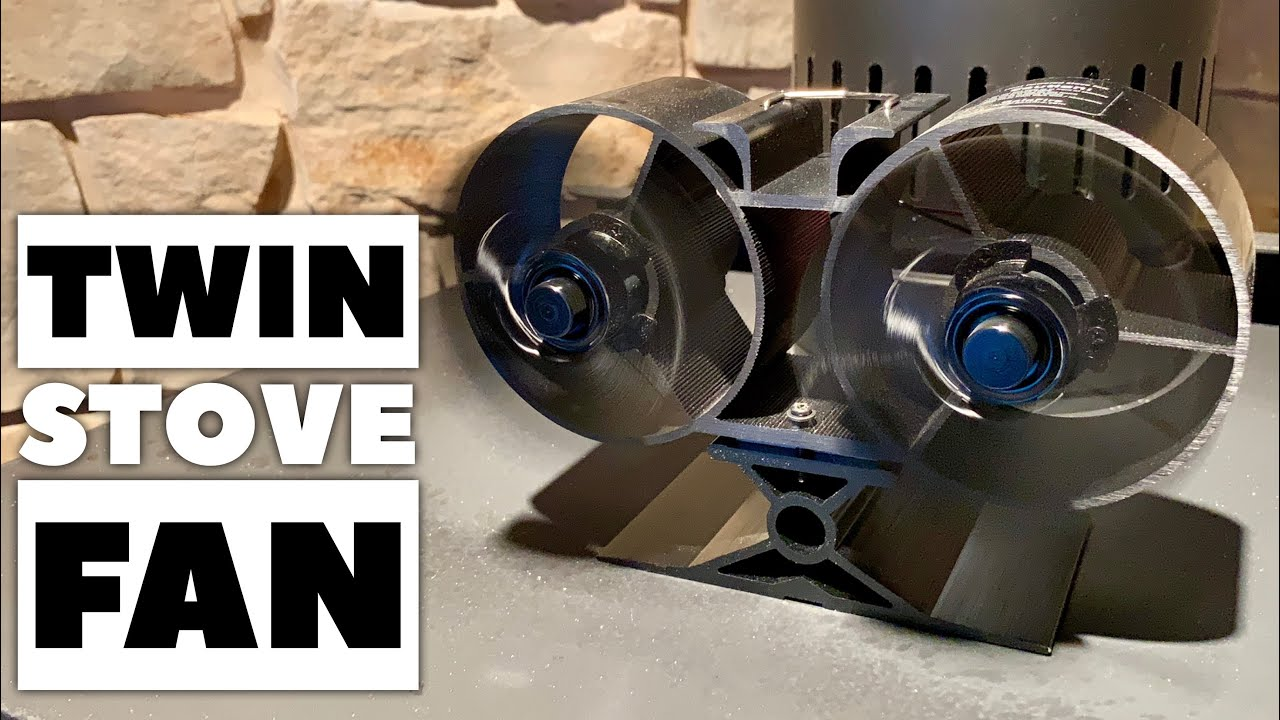Twin Blade Heat Powered Wood Burning Stove Fan By Sonyabecca