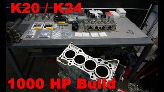 K24 Engine Build Start To Finish -  The Best 4 Cylinder Ever Made