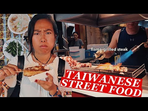 UNIQUE TAIWANESE STREET FOOD Tour At Shilin Night Market | Taipei Travel Vlog