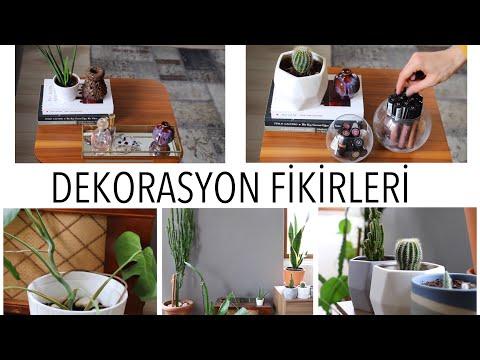 Ev Dekorasyonunda Bitki ve Obje Kullanımı Yeni Dekorasyon Fikirleri
