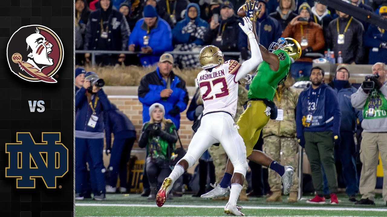 Florida State Vs Notre Dame Football Highlights 2018 Youtube