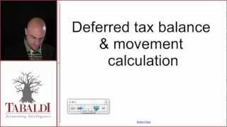 IAS 12 - Deferred Tax Balance and Movement Calculation (IFRS)