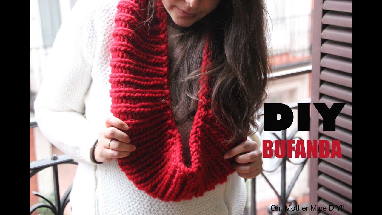 DIY Bufanda circular sin costuras (agujas circulares) - YouTube