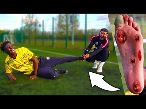 I Superglued Football Boots To My Friend's Feet & He Couldn't Get Them Off (24 Hour Challenge)