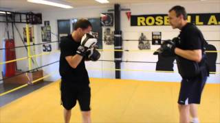 LENNY DAWS SHORT RIGHT HAND PAD WORKOUT WITH TRAINER IAN BURBEDGE / iFL TV