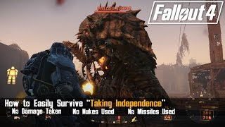 "Fallout 4 - How to Easily Defeat the Mirelurk Queen and Survive ""Taking Independence"""