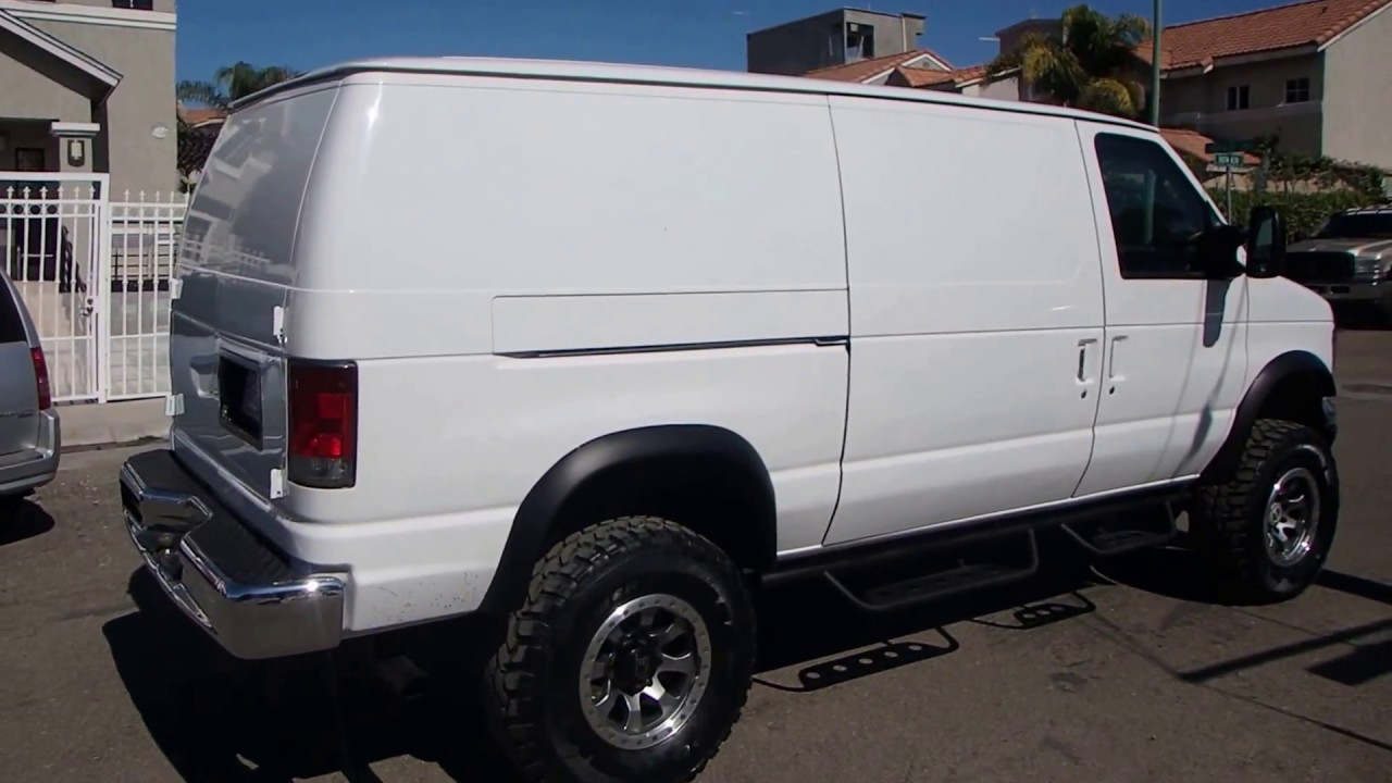 2003 ford e350 cargo van 4x4 youtube. Black Bedroom Furniture Sets. Home Design Ideas