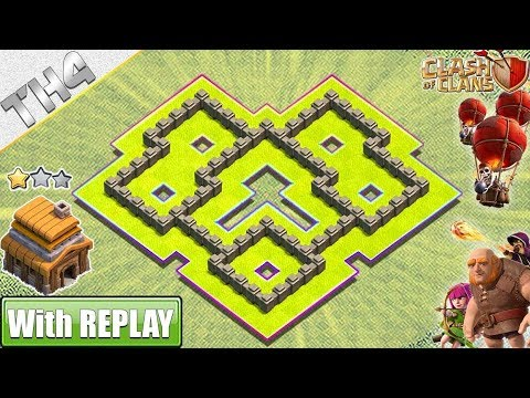 Clash Of Clans Town Hall 4 Defense COC TH4 Hybrid Base Layout Defense Strategy