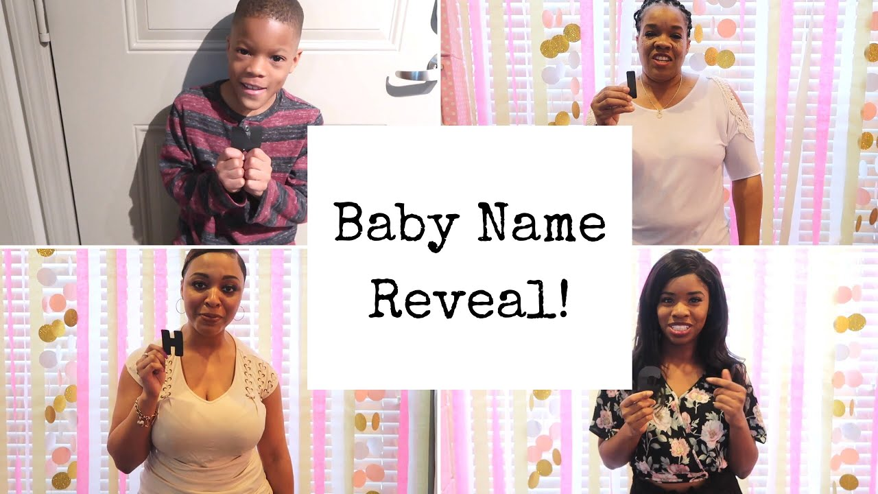 CUTEST BABY GIRL NAME REVEAL 2018!!