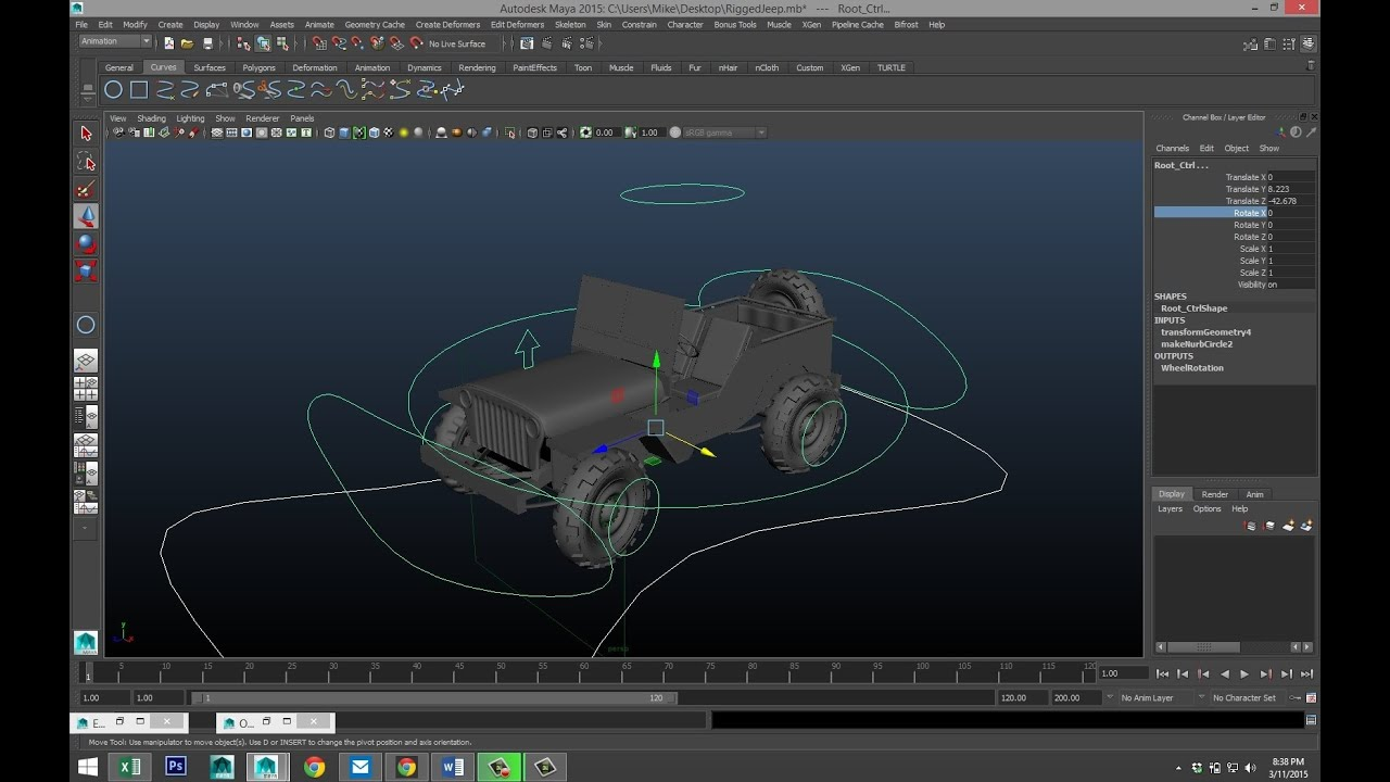 Maya tutorial : How to rig a vehicle