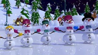 снеговик палец семья рождественские песни на русском детские стишки Snowman Finger Family
