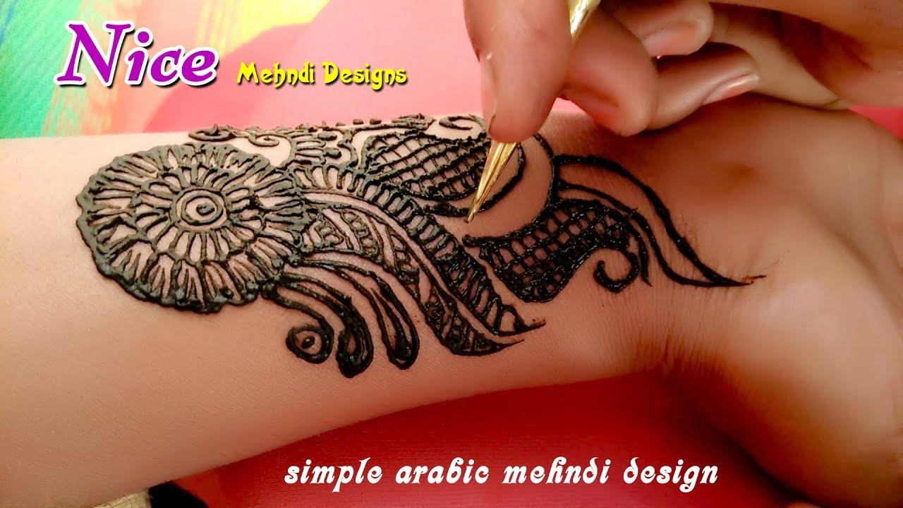 Beautiful Mehndi Design 2018 Letest Arabic Mehndi Designs Nice