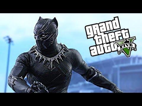 BLACK PANTHER VISITS LOS SANTOS !!! GTA V MODS