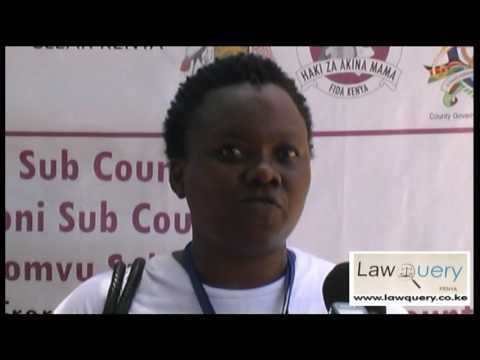 LawQuery Managing Director, Janet Katisya at the LawQuery Legal Aid Clinic