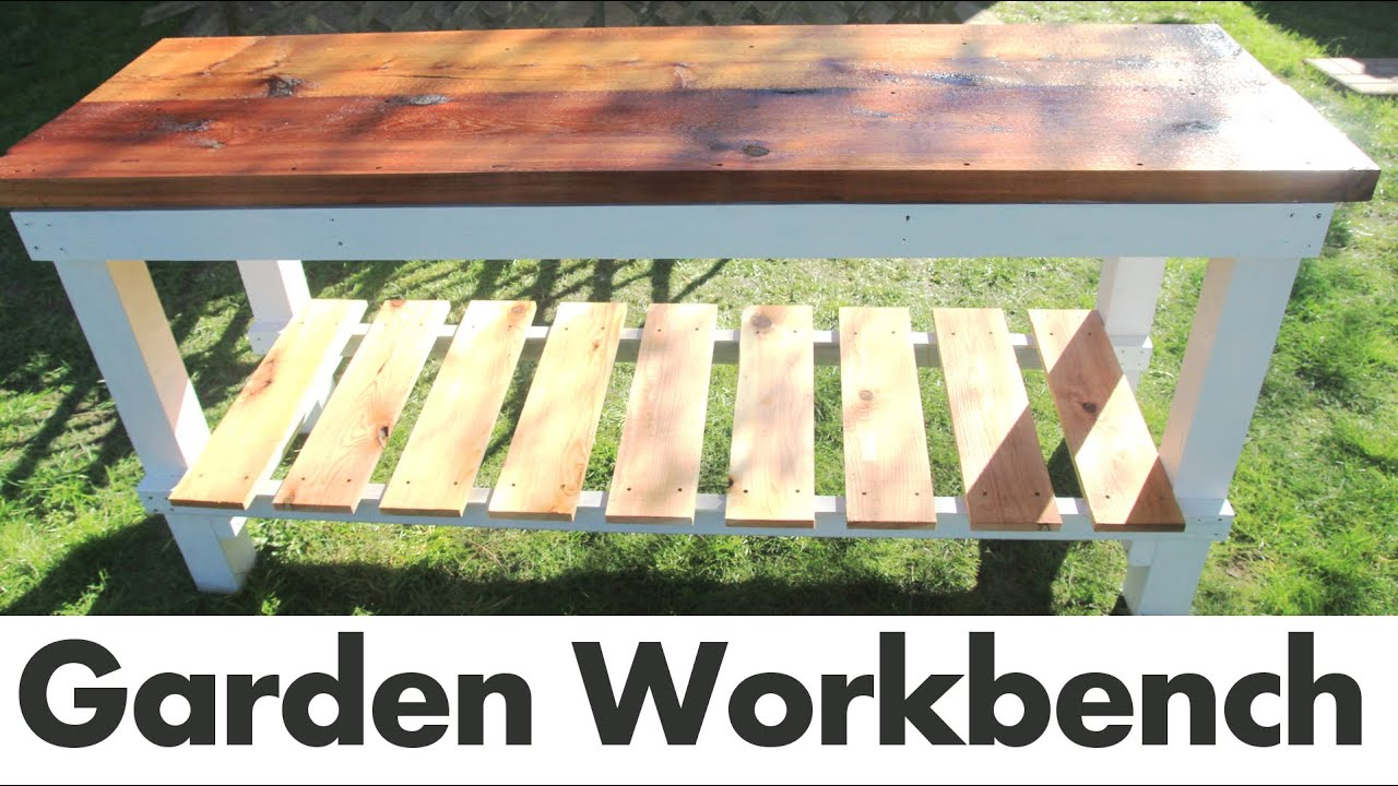 diy outdoor garden work bench youtube - Garden Work Bench