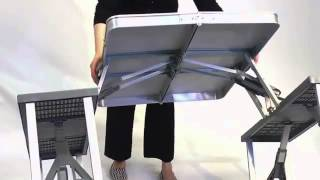 4-seater Portable Aluminium Folding Picnic Table  Www.kids.my/akfat4