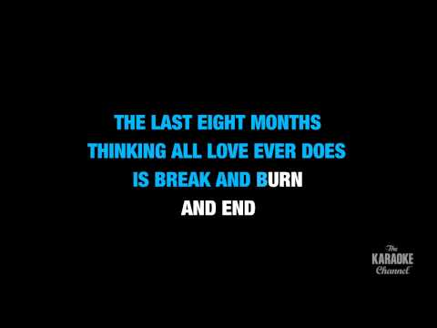 "Begin Again in the Style of ""Taylor Swift"" karaoke video with lyrics (no lead vocal)"