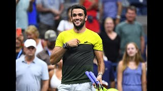 Matteo Berrettini vs. Gael Monfils | US Open 2019 Quarter-Finals Highlights