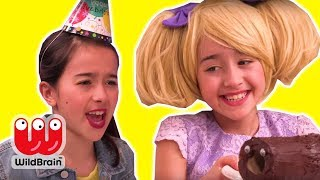 SHRINKING CHOCOLATE CAKE 🎂 Olivia's Birthday Party - Princesses In Real Life | WildBrain Kiddyzuzaa