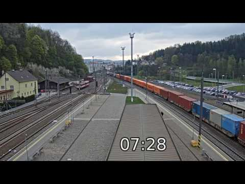 Nadraží Ústí nad Orlicí - 50x rychleji  (bez zvuku)