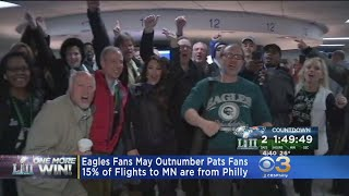 Eagles Fans May Outnumber Pats Fans At Super Bowl