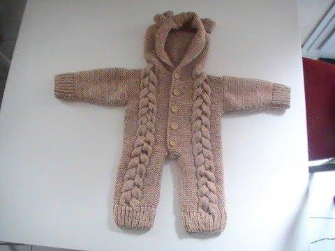 combinaison tricot bebe
