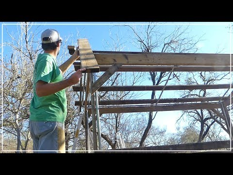 Attaching The Roof - Building Chicken Coop from Dog Kennel