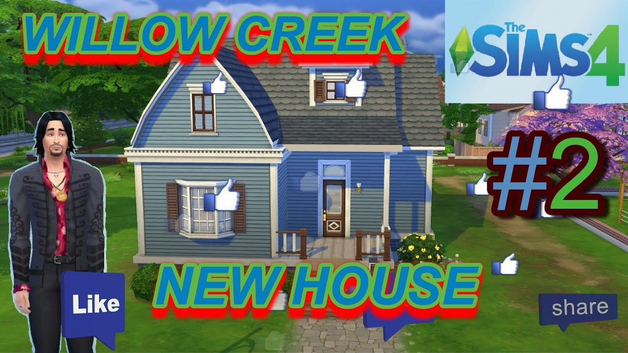 The sims 4 pc willow creek new house let 39 s play the for Willow creek mansion