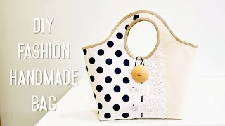 Diy Fashion Handmade Bag | Handbag Diy Tutorial | 时尚优雅手作包教学分享#HandyMum  ❤❤