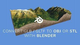 Export a 3D map GLB / glTF to OBJ with Blender v2.80 - 3D-Mapper.com