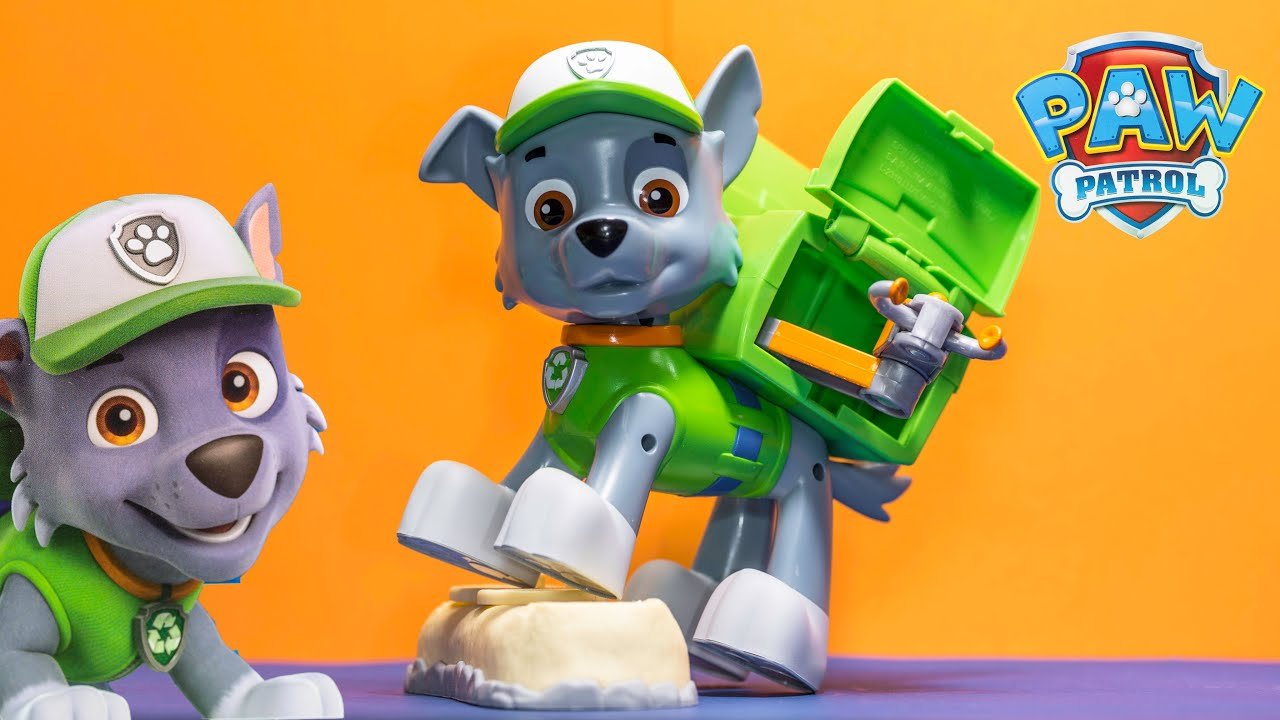 Unboxing The Paw Patrol Jumbo Rocky With Chase And Marshall Toys   YouTube