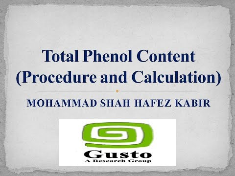 Total Phenol Content (Procedure and Calculation)
