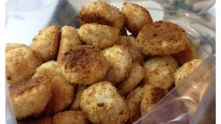 Easy Cream Cheese & Coconut Cookies Covered In Graham Crackers & Toasted Coconut   Video Tutorial