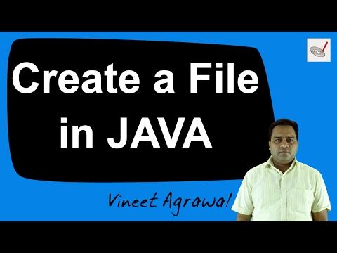 Create a New File using JAVA Program by Vineet Agrawal   Hindi / Urdu