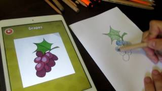 How to draw grapes Как рисовать виноград(Subscribe to the channel BabycassoПодписаться на канал Babycasso https://goo.gl/6DpZ3a How to draw grapes You have not painted grapes? Or already ..., 2016-07-13T17:24:36.000Z)