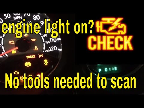 How To Scan Or Check Why The Engine Light Is On Without A Scanner Chrysler
