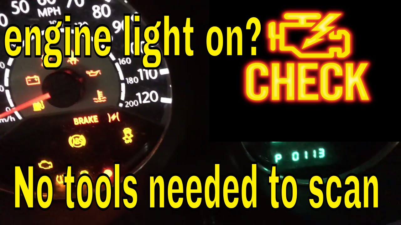 How To Scan Or Check Why The Engine Light Is On Without A Scanner Chrysler You