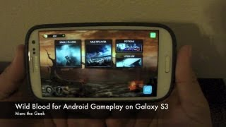 Wild Blood for Android on Galaxy S3 Gameplay