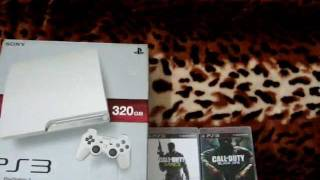 PS3 White Slim Unboxing