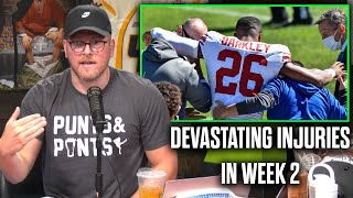 Pat McAfee Reacts To Saquon Barkley Tearing His ACL, Week 2 Injuries