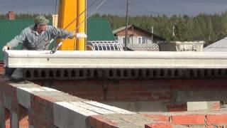 видео бетонные плиты для стен дома