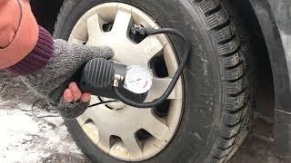 Обзор автомобильного компрессора. Показываю как работает