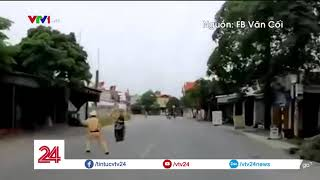 Hải Phòng: Quái xế 16 tuổi húc văng cảnh sát giao thông | VTV24