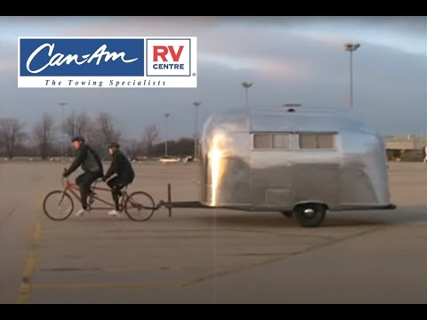 Airstream Towed By Bike Can Am Rv Youtube