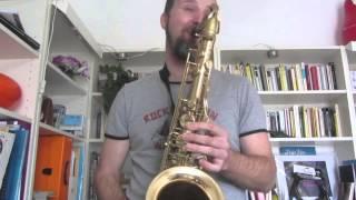 ¨Girl from Ipanema¨ saxophone solo, Aaron Drake mouthpiece 9* (J.Bergonzi)