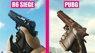 Rainbow Six Siege vs PlayerUnknown's Battlegrounds - Reload Animations Comparison
