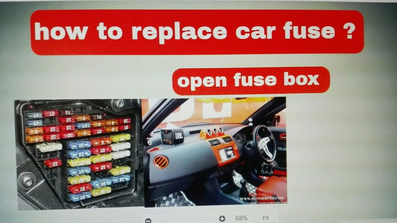 How To Install A Fuse Box In A Car : How to replace car fuses problem solved youtube