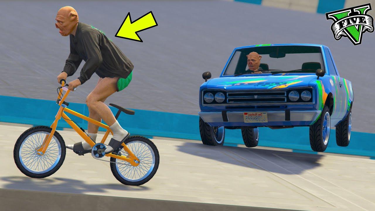 GTA 5 ONLINE 🐷 BMX VS AUTO !!! 🐷LTS🐷 DAJE !!