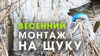 Как ловить щуку ранней весной на спиннинг Монтаж силикона на щуку