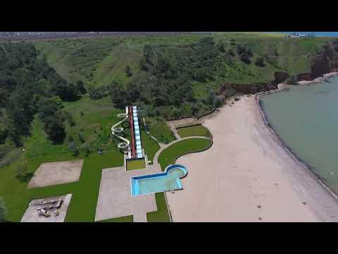 Песчаное Крым море с высоты полета